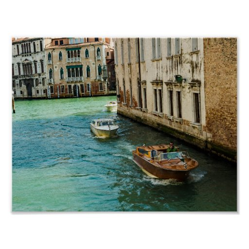 Venice posters - Wooden boats