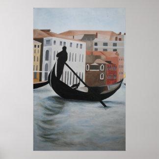 Venice Print - Gondolier