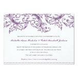 "Venice (Purple) Wedding Invitation 5"" X 7"" Invitation Card"