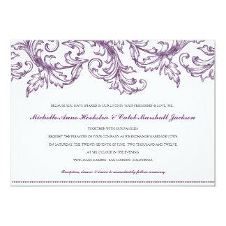 Venice Purple Wedding Invitation