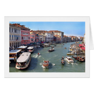 VENICE RIALTO BRIDGE VIEW CARD