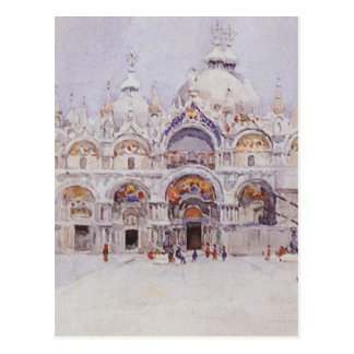 Venice. Saint Mark's Basilica. by Vasily Surikov Postcard
