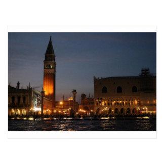 Venice San Macro Square at Night postcard