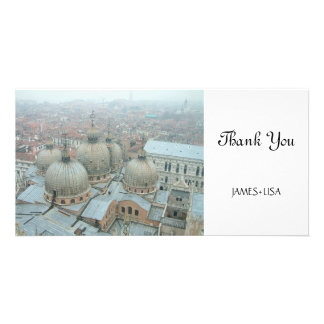 Venice San Marco cathedral domed roof Card