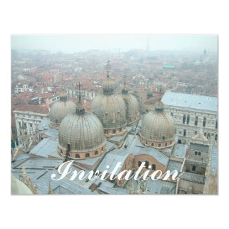 Venice San Marco cathedral domed roof Custom Announcement