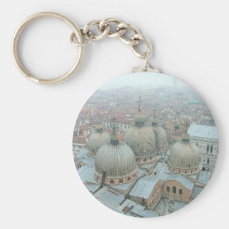 Venice San Marco cathedral domed roof Keychain