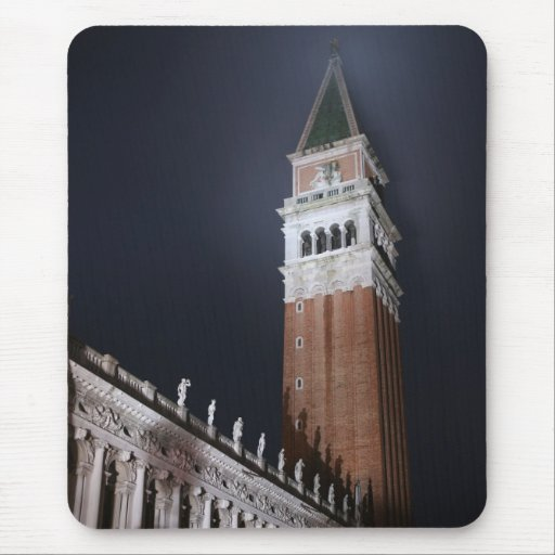 Venice San Marco Tower at Night Time Mouse Pad