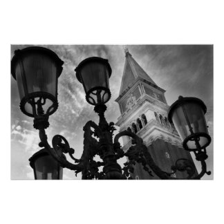VENICE SAN MARCO TOWER & LIGHTS POSTER