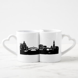 venice skyline couples' coffee mug set