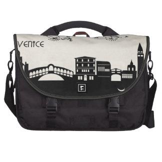 venice skyline deco laptop commuter bag