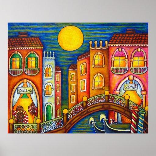 Venice Soiree Print by Lisa Lorenz