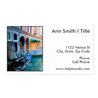Venice Special Alley with Love Quote Business Card