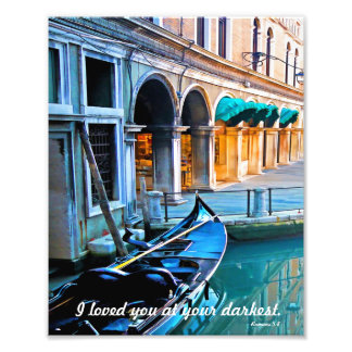 Venice Special Alley with Love Quote Photo Print