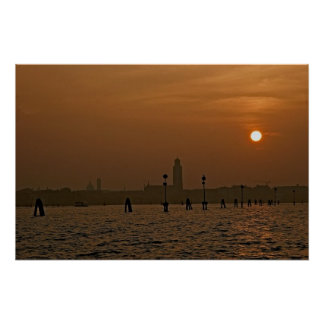 Venice Sundown Poster