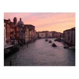 Venice sunrise postcard
