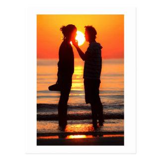 VENICE SUNSET AT LIDO BEACH POSTCARD