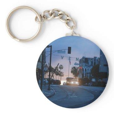 Beach Themed venice sunset keychain