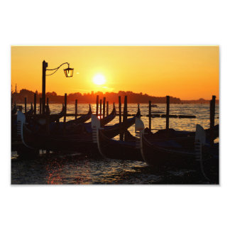 Venice Sunset Landscape Photo Print