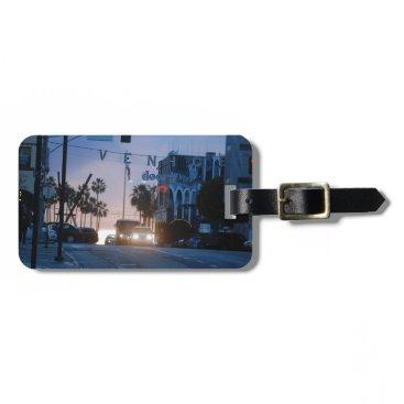 Beach Themed venice sunset luggage tag