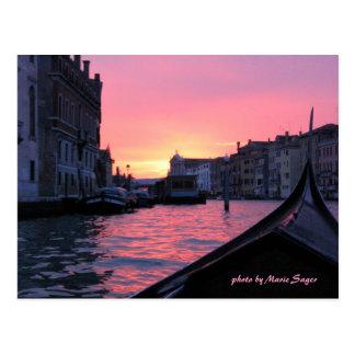 Venice Sunset Postcard