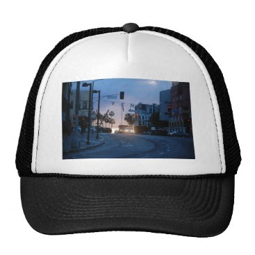 Beach Themed venice sunset trucker hat