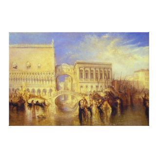 Venice the Bridge of Sighs by J M W Turner Gallery Wrap Canvas