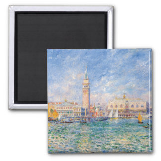 Venice (The Doge's Palace) Pierre-Auguste Renoir 2 Inch Square Magnet