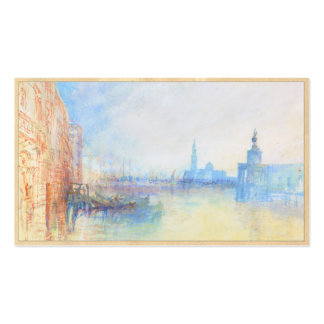 Venice The Mouth of the Grand Canal joseph Mallord Double-Sided Standard Business Cards (Pack Of 100)