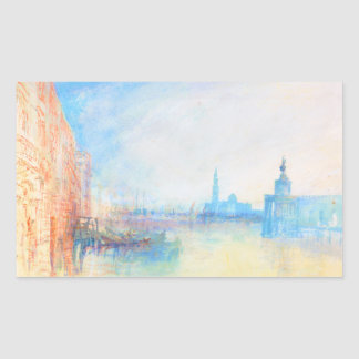 Venice The Mouth of the Grand Canal joseph Mallord Rectangular Sticker