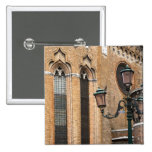 Venice, Veneto, Italy - A lamp post is standing Pinback Buttons