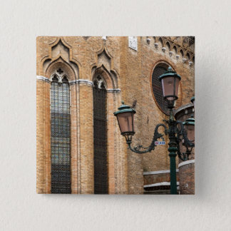 Venice, Veneto, Italy - A lamp post is standing Pinback Button