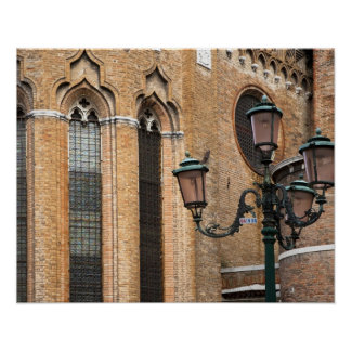 Venice, Veneto, Italy - A lamp post is standing Posters
