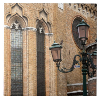 Venice, Veneto, Italy - A lamp post is standing Tile