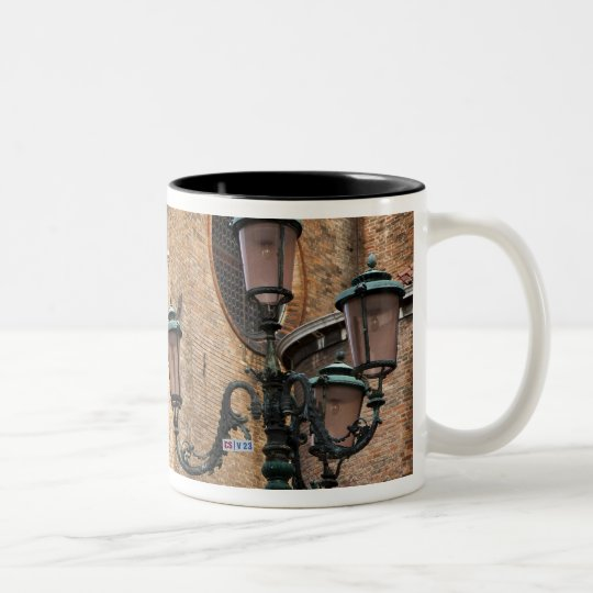 Venice, Veneto, Italy - A lamp post is standing Two-Tone Coffee Mug