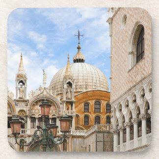 Venice, Veneto, Italy - Birds are perched on a Drink Coaster