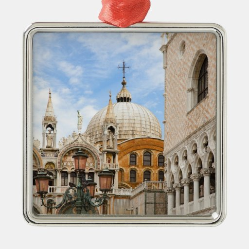 Venice, Veneto, Italy - Birds are perched on a Metal Ornament