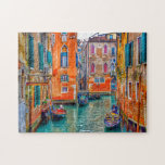 "Venice Veneto Italy scenic summer photo Jigsaw Puzzle<br><div class=""desc"">Enjoy colors from Italy! A beautiful Venice travel photography from Tom Podmore on this bright jigsaw puzzle will make a relaxing and joyfull game for your family,  couple and friends time,  and a delicious decoration for your home. Boats in flooded historic city,  dreamy atmosphere and unique colors.</div>"