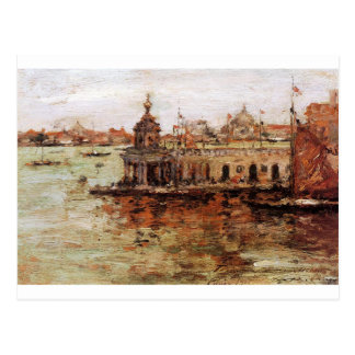Venice - View of the Navy Arsenal by William Merri Postcard