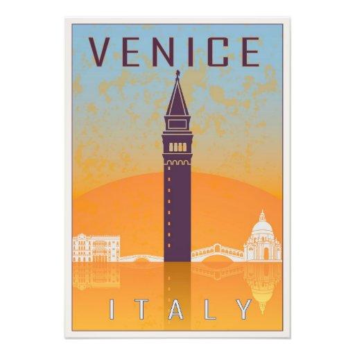 Venice vintage poster impresion fotografica