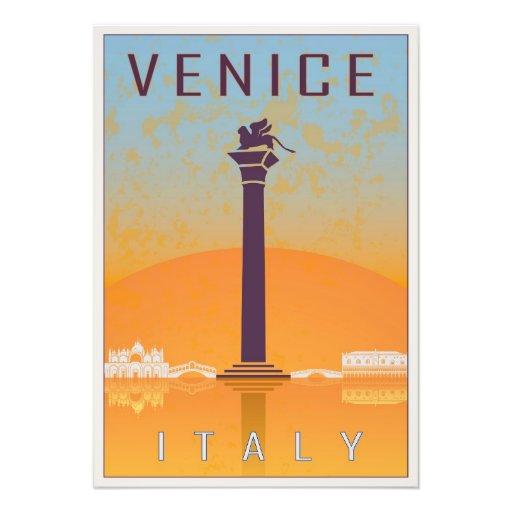 Venice vintage poster impresiones fotograficas
