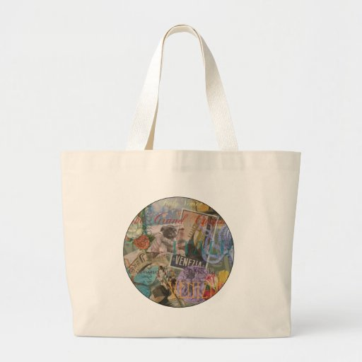 Venice Vintage Trendy Italy Travel Collage Tote Bag