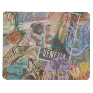 Venice Vintage Trendy Italy Travel Collage Journal