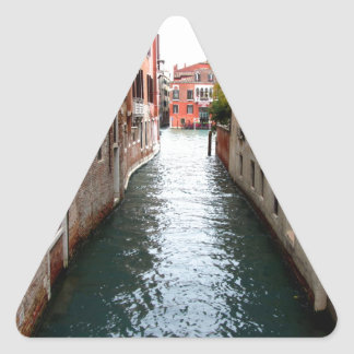 Venice water alley triangle stickers