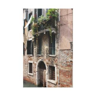 Venice water door canvas print