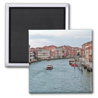 Venice Waterway 2 Inch Square Magnet