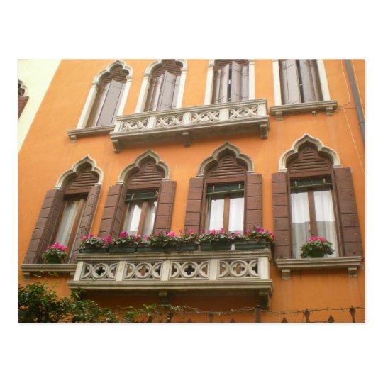 Venice Window Box Postcard
