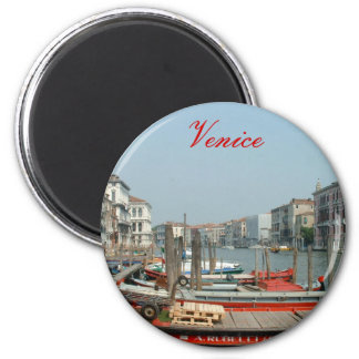 VeniceRed, Venice 2 Inch Round Magnet