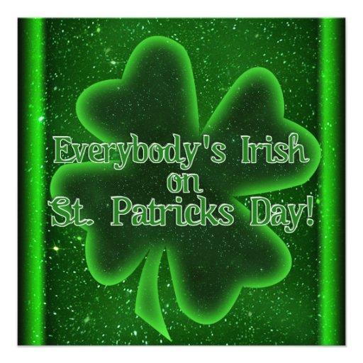 ¡Venido a la reunión del día de nuestro St Patrick Comunicado Personalizado