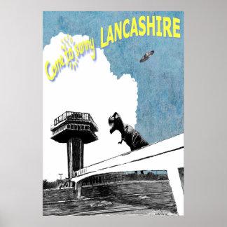 Venido a Lancashire soleado Póster