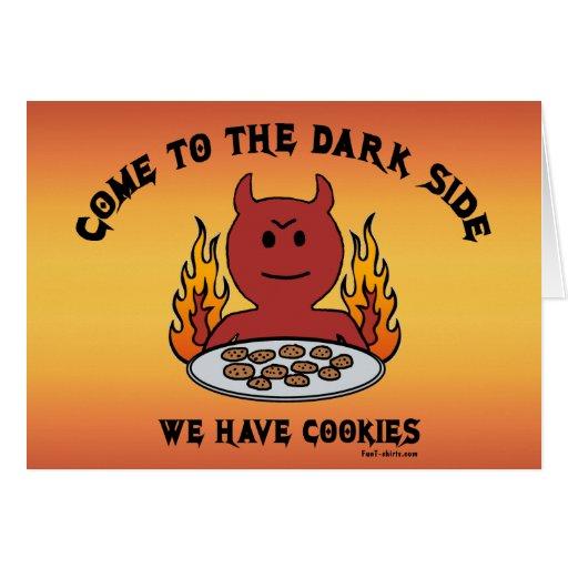 Venido a los notecards del lado oscuro tarjetón
